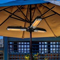 Comparatif des meilleurs parasols chauffants # 10 ART TO REAL Radiateur de Parasol électrique pour terrasse, radiateur électrique Infrarouge extérieur Pliant avec 3 Panneaux Chauffants pour Pergola ou Gazabo
