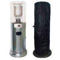 Comparatif des meilleurs parasols chauffants # 8 Chauffage de terrasse Lounge INOX 11KW + HOUSSE Allumage piezo tuyau + détendeur Roulettes
