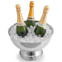 Comparatif des meilleures Caves à vin # 2 Signature Gare vin refroidisseur seau à champagne, refroidisseur de bouteille, Seau à Vin, refroidisseur de vin, vin en acier inoxydable Effet martelé Parti, pot, boissons Pot
