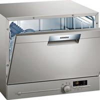 Comparatif des meilleurs Lave-vaisselle compacts # 8 Lave vaisselle mini Siemens SK26E821EU - Mini lave vaisselle- Classe A+ / 48 decibels - 6 couverts - Silver Inox bandeau : Silver